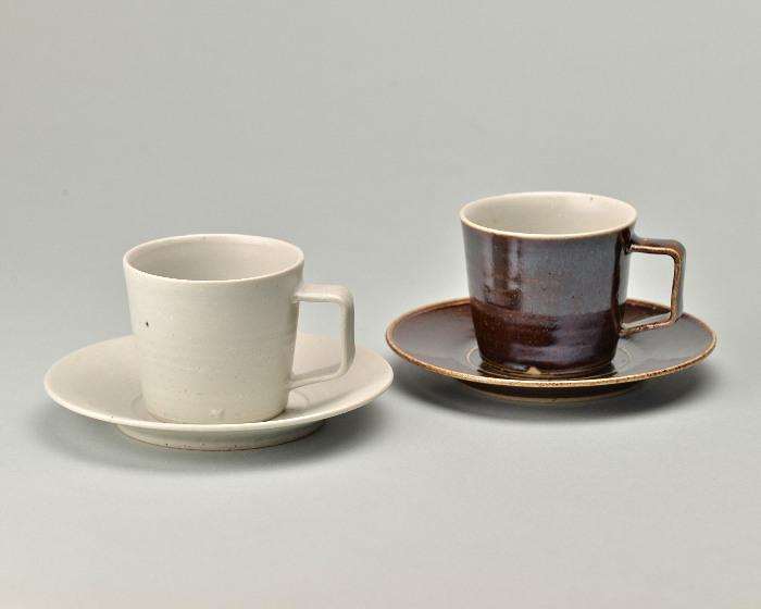 doppo陶器のコーヒーカップソーサー2つ.jpg