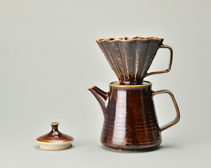 陶器コーヒーポット&ドリッパーセット_あめゆう.jpg