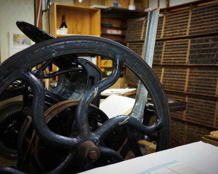 letter press clock 能登 二行和紙 活版印刷 DSC01693.jpg