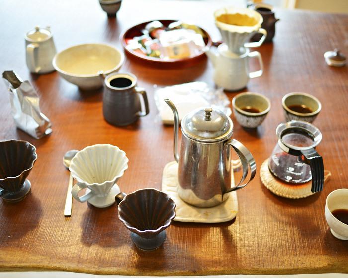 陶器コーヒーポット&ドリッパーDSC_7902.jpg